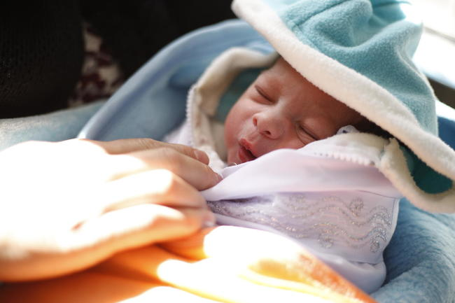 UNICEF Image: A newborn baby in hospital in Afghanistan