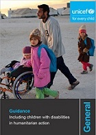 cover of including children with disability in emergencies