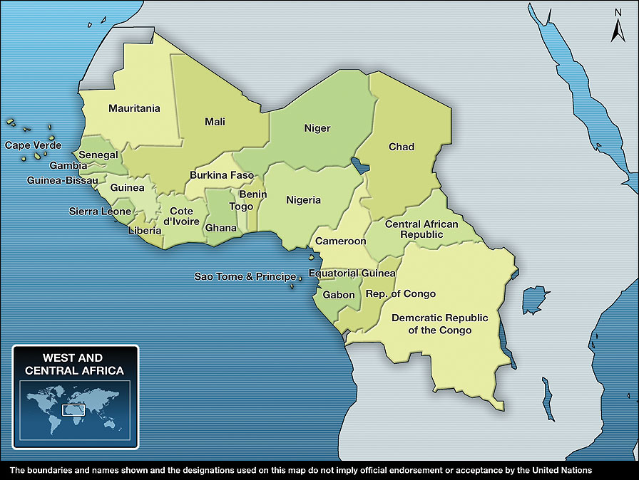 Sahel And Central Africa Map Map Of Africa