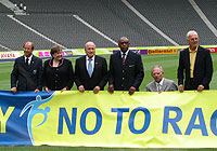 UNICEF Image: Ann M. Veneman and FIFA President Joseph S. Blatter 'Say No to Racism'
