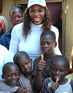UNICEF Image: Serena Williams in Ghana
