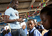 UNICEF Image: Stephen Appiah, Education for All, Ghana