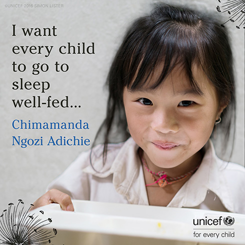 Pullquote from story: I want every child to go to sleep well-fed...