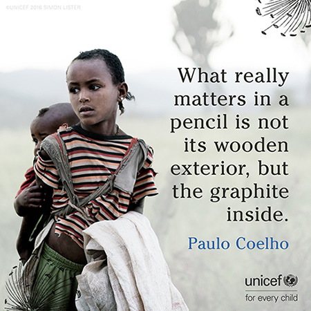 Pullquote from story: What really matters in a pencil is not its wooden exterior, but the graphic inside.